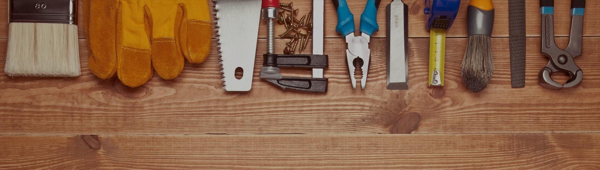 banner warsztat z narzędziami