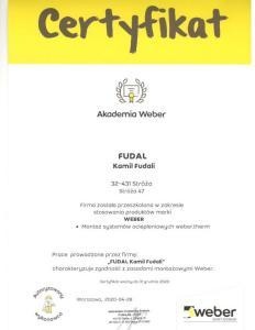 weber-certyfikat