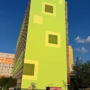 pomalowany blok