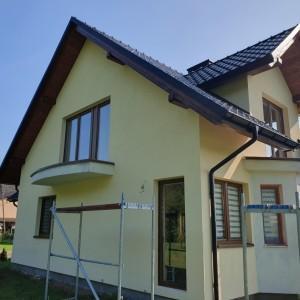 wyremontowana ściana domu